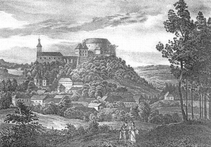 Bouzov na počátku 19. století